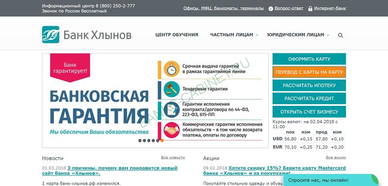 История банка Хлынов