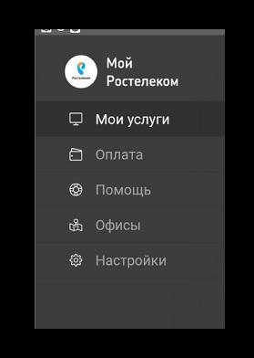 Функционал личного кабинета Ростелеком